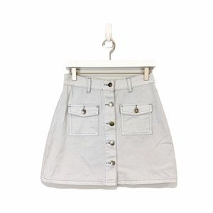 MPD Mink Pink Light Wash Denim Mini Skirt